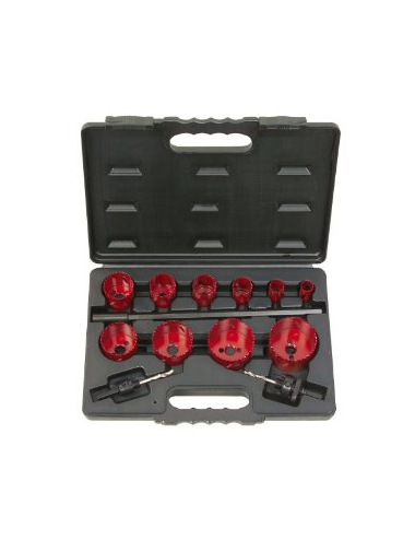 Coffret de 10 scies cloche KS, 19-22-29-35-38-44-51-57-65-67 mm