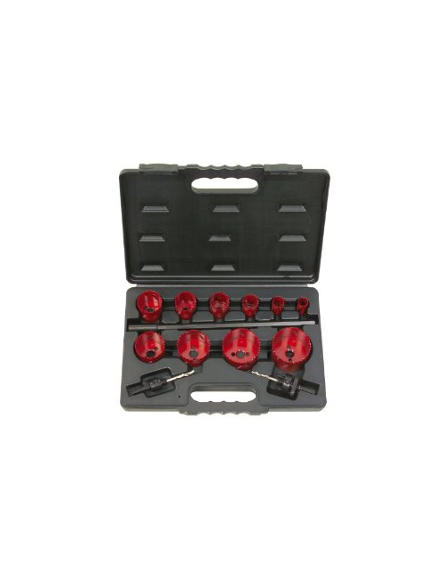 Coffret de 10 scies cloche KS, 19-22-29-35-38-44-51-57-65-67 mm