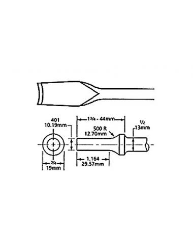 CISEAU COURBE EM. ROND 10.2mm