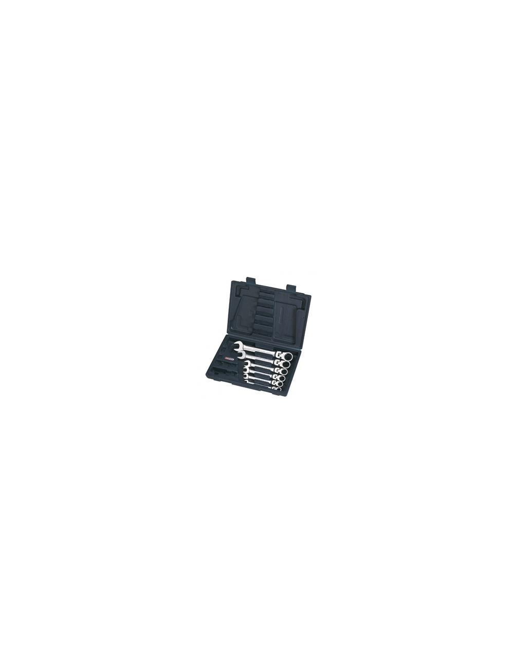 Coffret clé mixte à cliquet réversible GEARplus, 6 pcs, 8-10-12-13-17