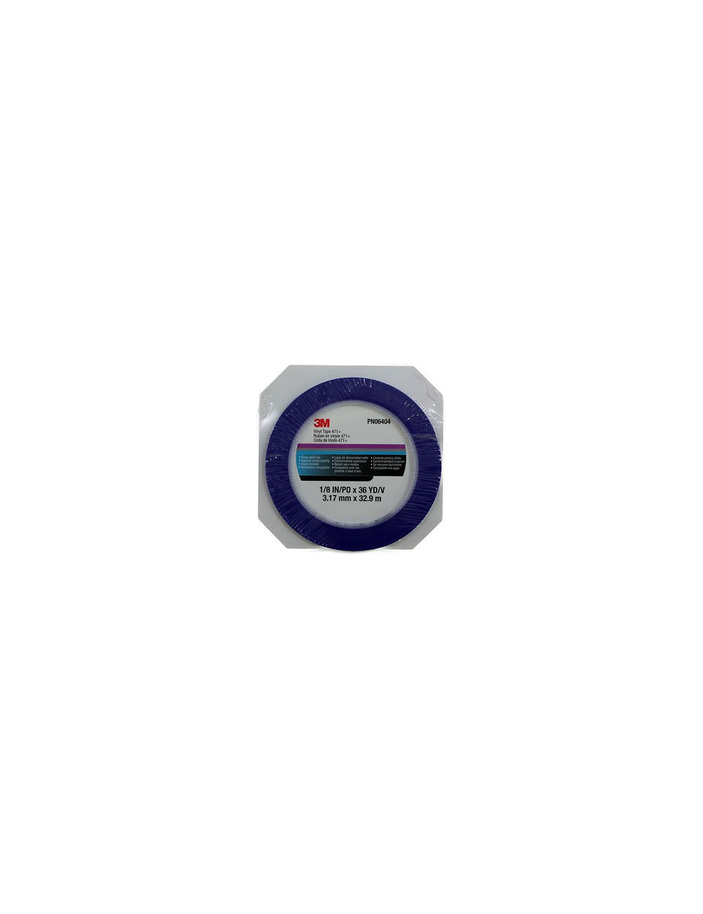 Rouleau Ruban Décoration 471 Bleu 3.1mmx33m 3M