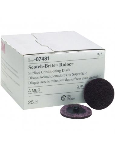 DECAPAGE SC-DR Roloc A moyen rouge Ø50mm 3M