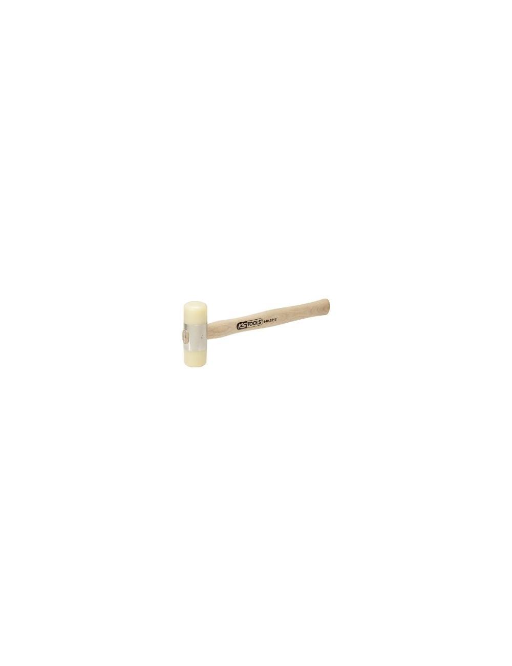 Maillet à embout nylon 200g - tête Ø28mm - avec manche frêne galbé