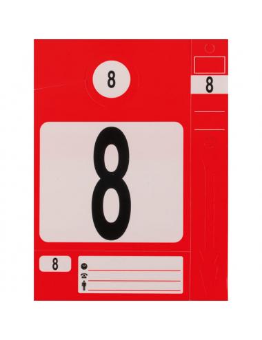Jeu d'étiquettes et porte clés -rouge (300pièces)