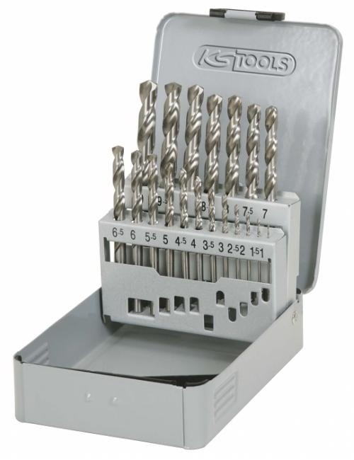 Coffret de forets HSS-G meulés - 19 pièces
