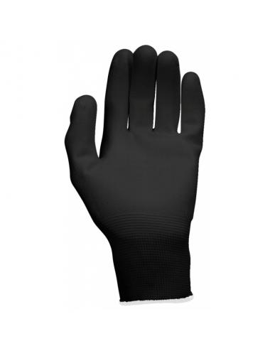 Gants microfibres, noirs, XXL, 12paires