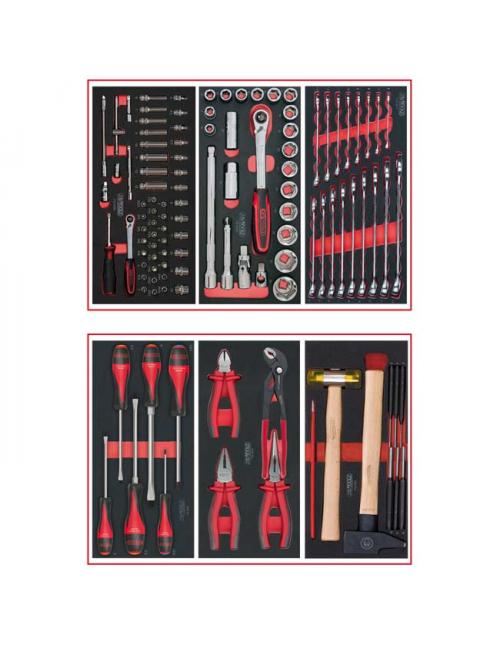 Composition d'outils 2 tiroirs pour servante, 114 pièces