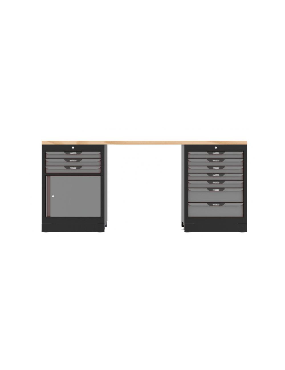 Etabli SRM 10 tiroirs + 1 porte