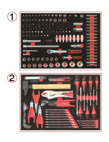 Servante Dakar 7 tiroirs équipée de 184 outils