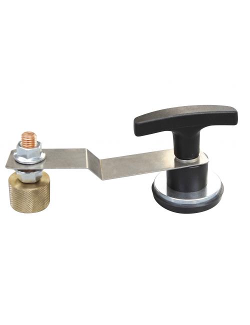 Masse soudee magnetique pour tole acier