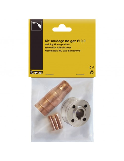 Kit Soudage No Gas Ø0.9 (3 tubes contact +1 buse+1 galet )