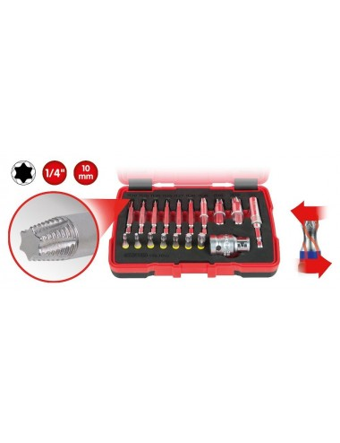 Coffret d'embouts d'extraction pour vis TORX®, 18 pcs