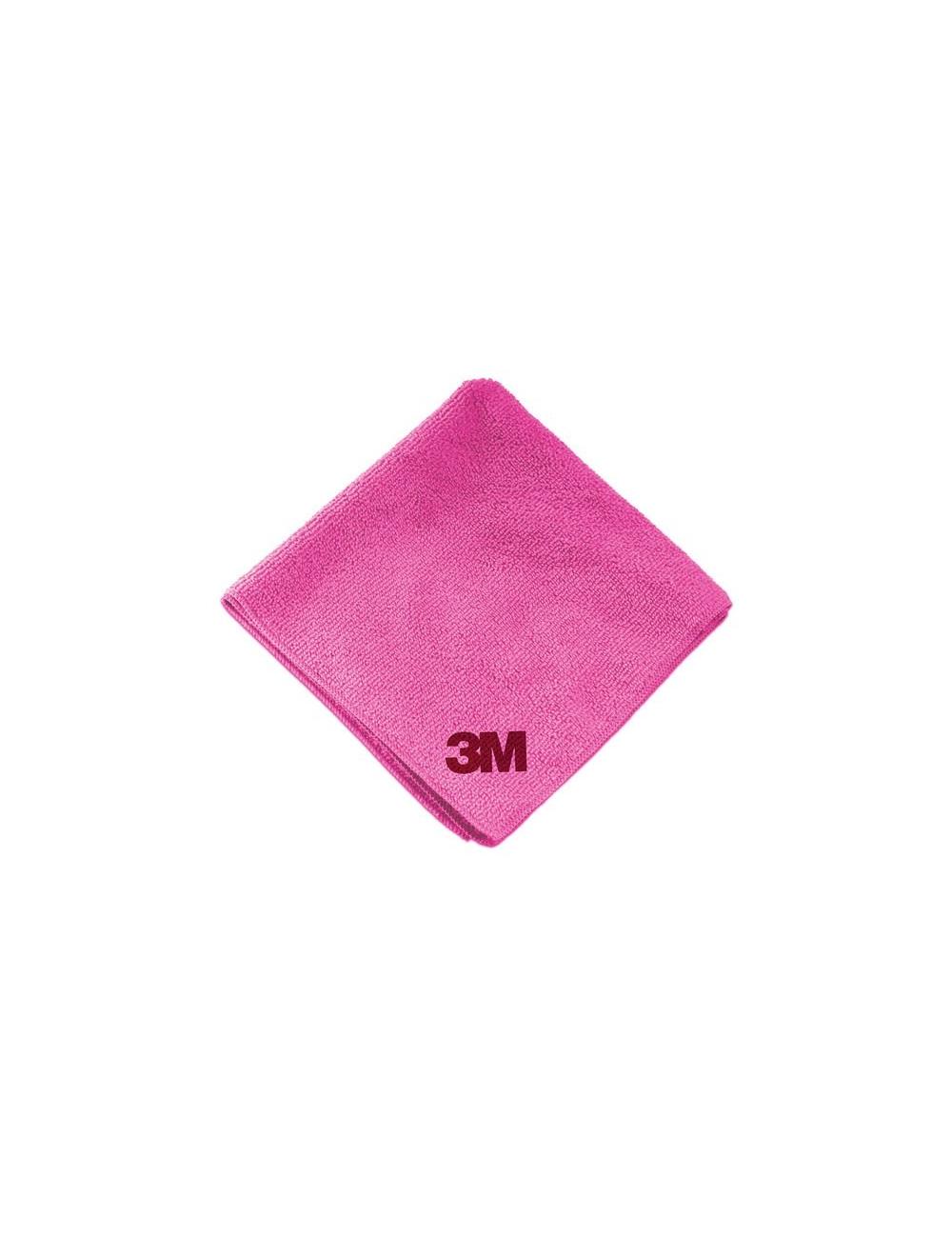 Chiffon de lustrage optimum rose/rouge 3M 360x320mm