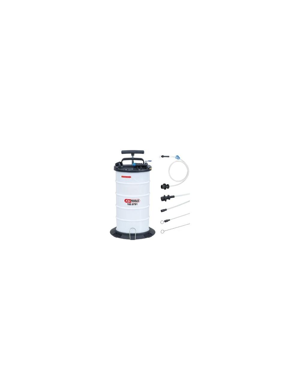 Pompe d'aspiration par vide 9,5L avec 4 sondes