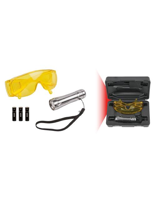 Coffret lampe de poche UV de détection de fuites