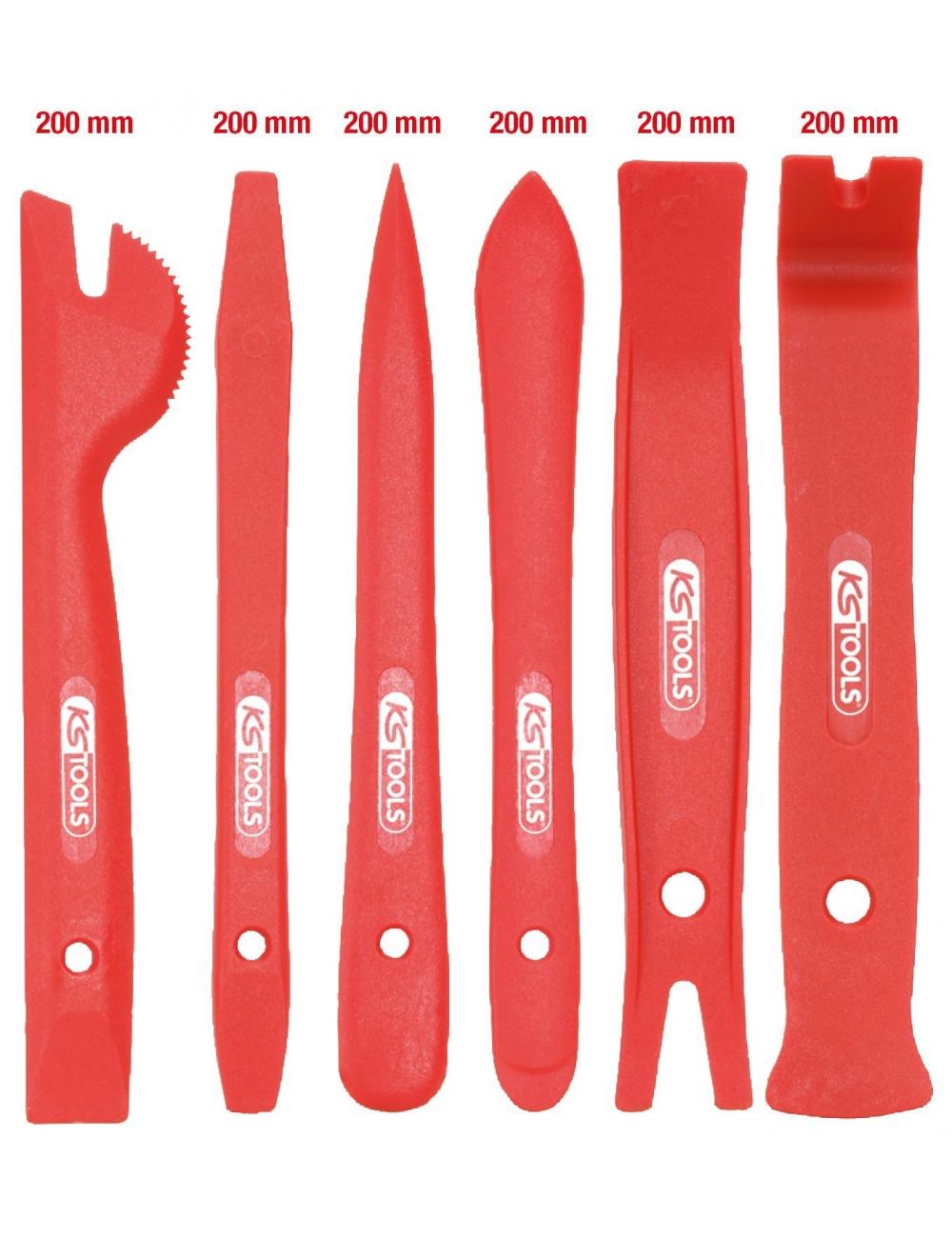 Jeu d'outils pour le démontage des garnitures de portières ABS 6 pces
