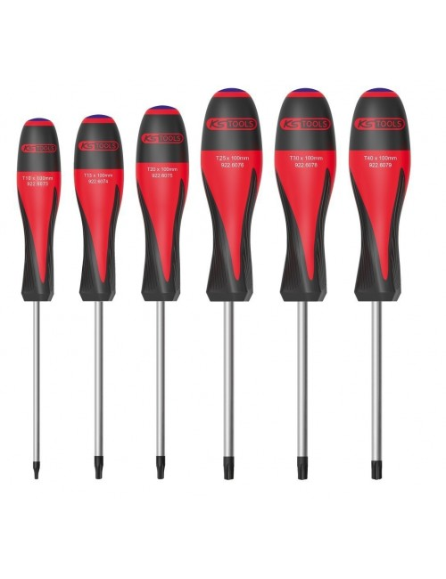 Jeu de 6 tournevis ULTIMATE®, TORX® percé