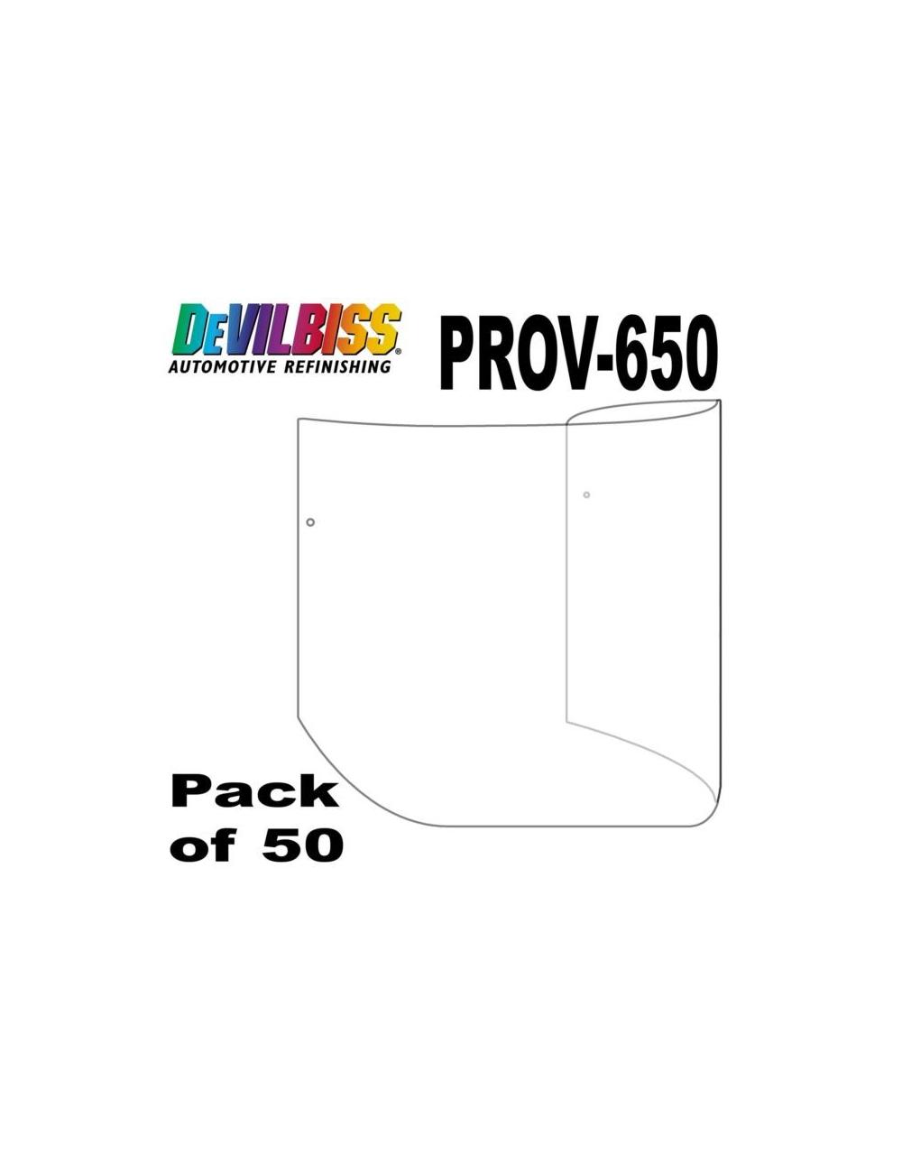 Visière Tire Off pour Masque PROV-650 Devilbiss (Sachet de 50) 5b8e6f6ba152