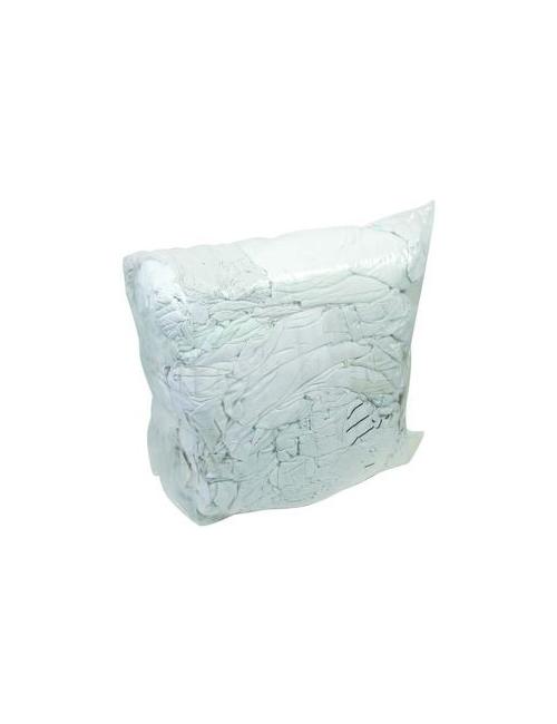 CHIFFONS Interlock Blanc Coupé (Balle de 10 Kg)