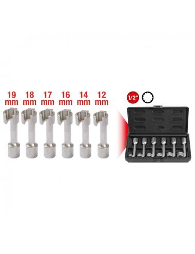 Jeu de clés pour conduites d'injection diesel, 6 pièces