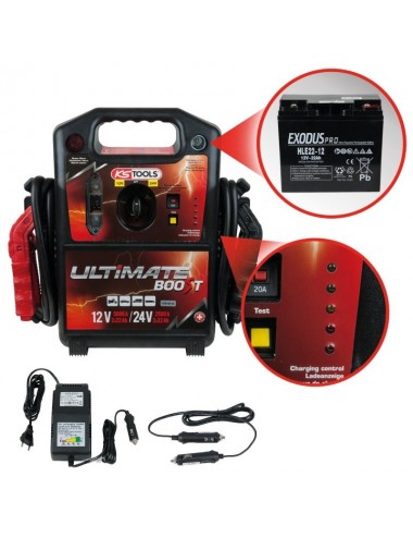 Booster à batterie 12V/24V - 5000A/2500A