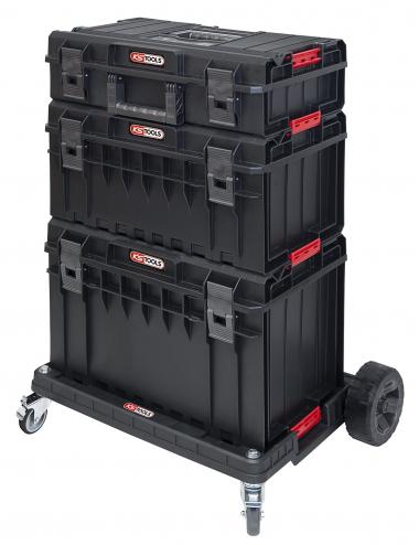 Ensemble de caisses SCM avec chariot de transport, 4 pièces
