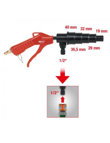 Pistolet de rinçage du système de refroidissement