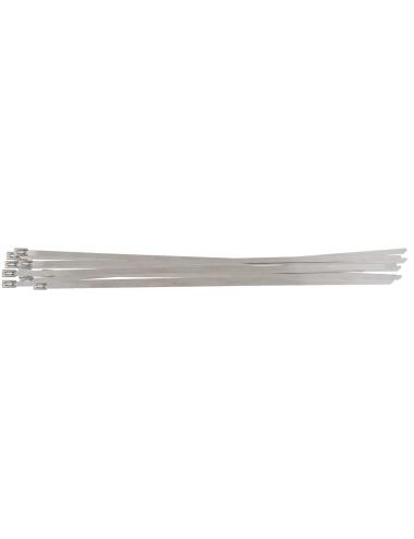Colliers serre-câbles en acier avec fermeture à bille - 4,6 x 200 mm,