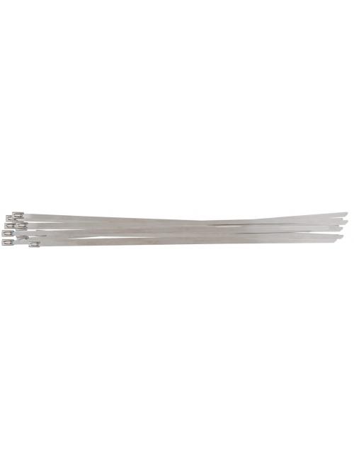 Colliers serre câbles en acier avec fermeture à bille - 4,6 x 200 mm,