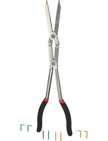 Pince à circlips intérieurs à double articulation L.345mm