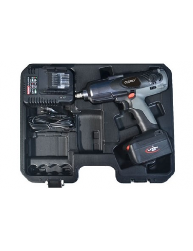 "COFFRET CLE A CHOCS 1/2"" 18V 3AH 600NM AVEC 2 BATTERIES LITHIUM ION"