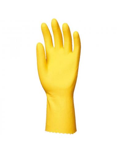 Gants latex naturel ménage jaune T.7