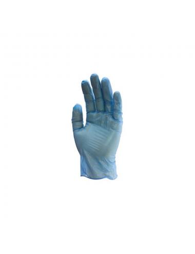 Gants Vinyle bleu 5700 NON poudré TAILLE M (100 gants)