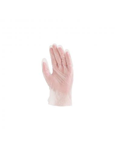 Gants Vinyle poudrés T.8 Taille M  AQL 1,5 (100 gants)