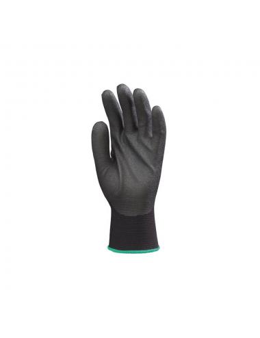 Gants Hydropellent TM polyester noir enduit mousse PVC noir