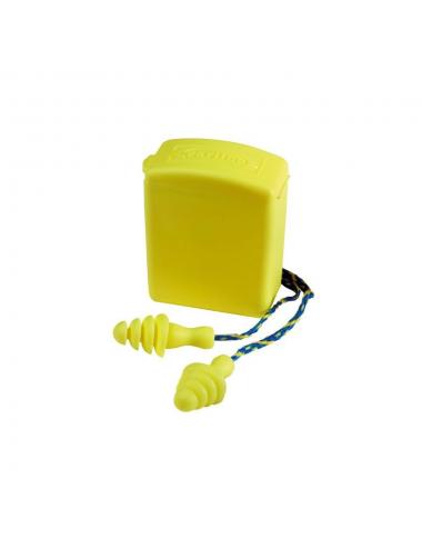 Bouchon antibruit jaune cordé  bte indiv  SNR30db (bte 50 paires)