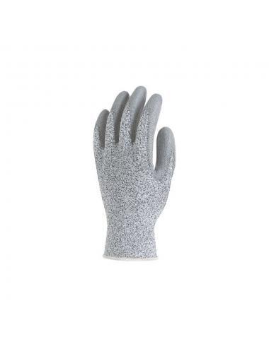 Gants de protection HPPE gris, paume enduite polyuréthane gris, anticoupure