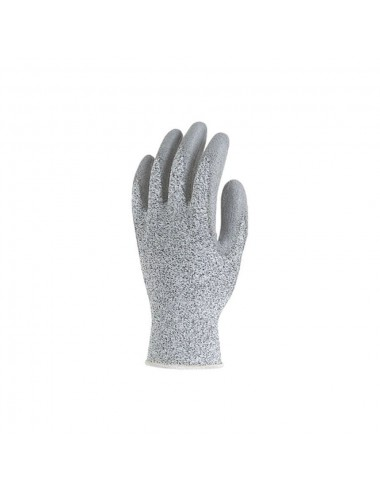Gants de protection HPPE gris, T8 paume enduite polyuréthane gris, anticoupure