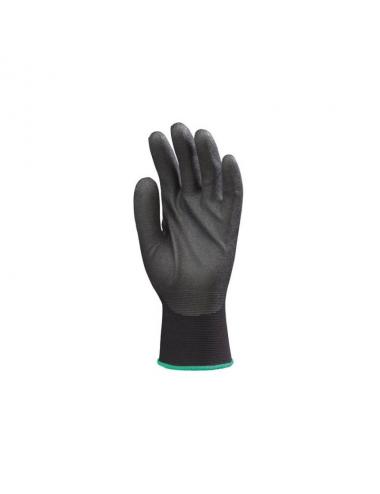 Gants de protection Hydropellent T.7 polyester noir enduit mousse PVC noir