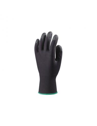 Gants de protection Hydropellent T9 polyester noir enduit mousse PVC noir