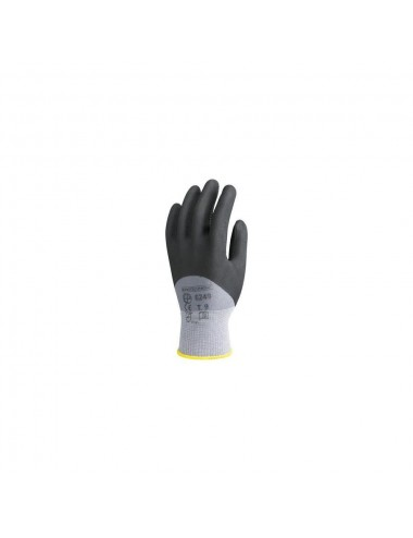 Gants de protection polyam.T10 gris,end. polyurét. Noir, picots  4.1.4.1