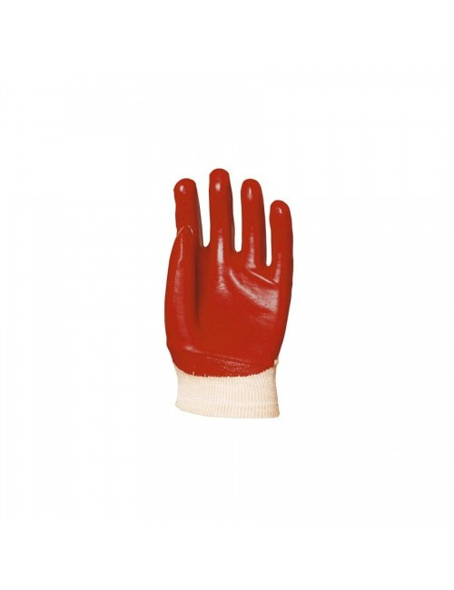 Gants de protection PVC rouge dos aéré, modèle standard