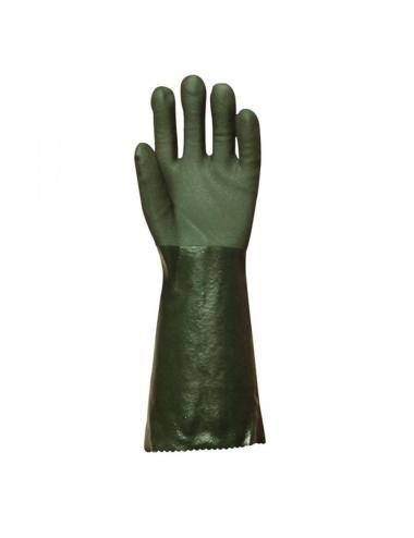 Gants de protection polymère vert,  T10  40 cm Actifresh®, chimique idem pétronyl