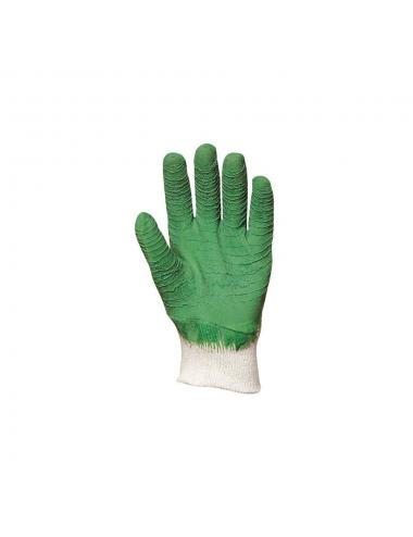 Gants en latex crêpé vert dos aéré standard
