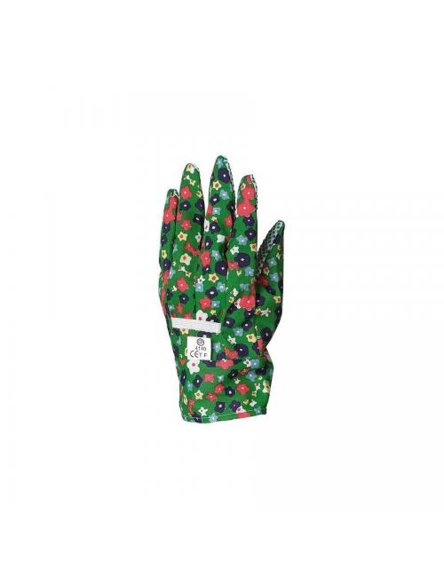 Gants  de protection jardin cueillette, toile coton, picots PVC ***