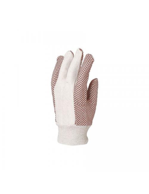 Gants de protection toile coton, picots PVC noirs ***
