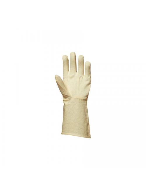 Gants toile coton croisée cousu manchette 15 cm ***