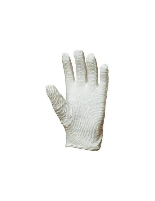 Gants coton coupe ville, mini-picots blancs