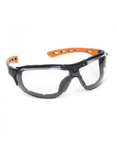 Lunettes de protection EUROLUX noir/orange, incolore anti-buée
