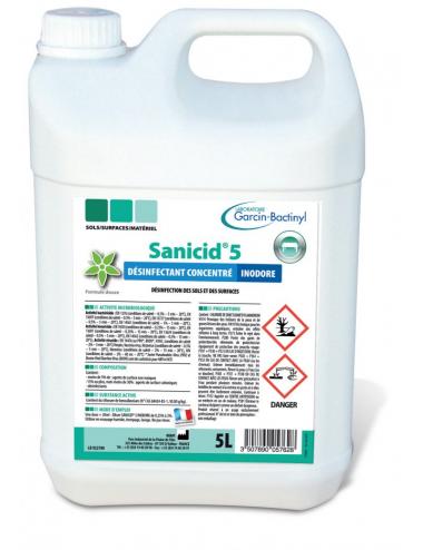 SANICID 5 INODORE 5L - TRAITEMENT DES SURFACES